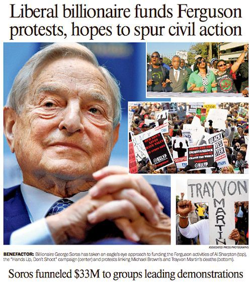 George-Soros-funded-Ferguson-protests